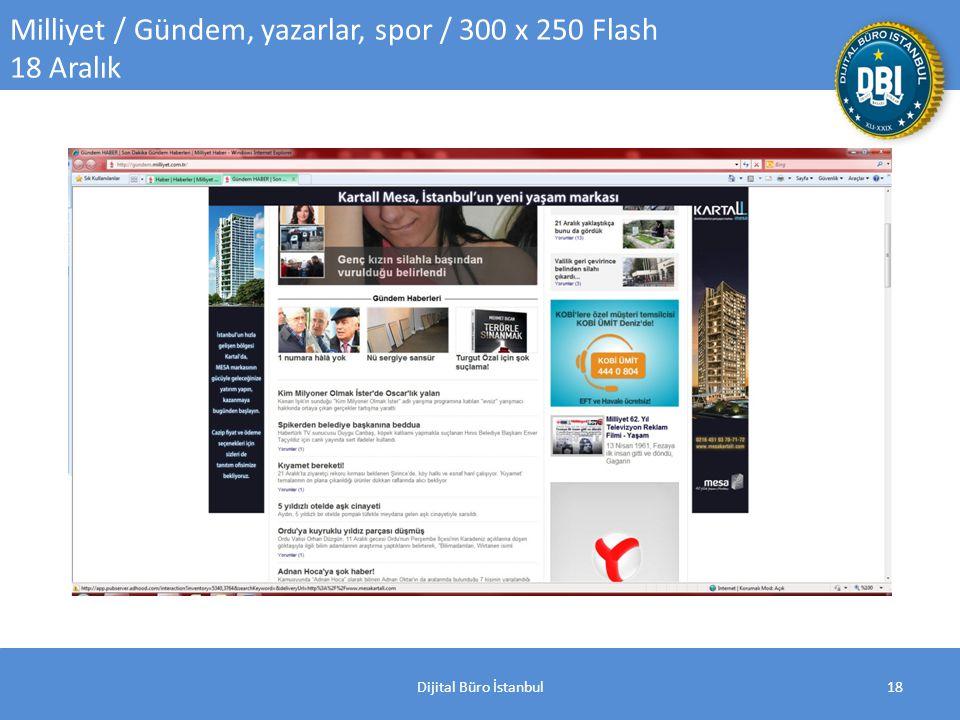 Dijital Büro İstanbul18 Milliyet / Gündem, yazarlar, spor / 300 x 250 Flash 18 Aralık