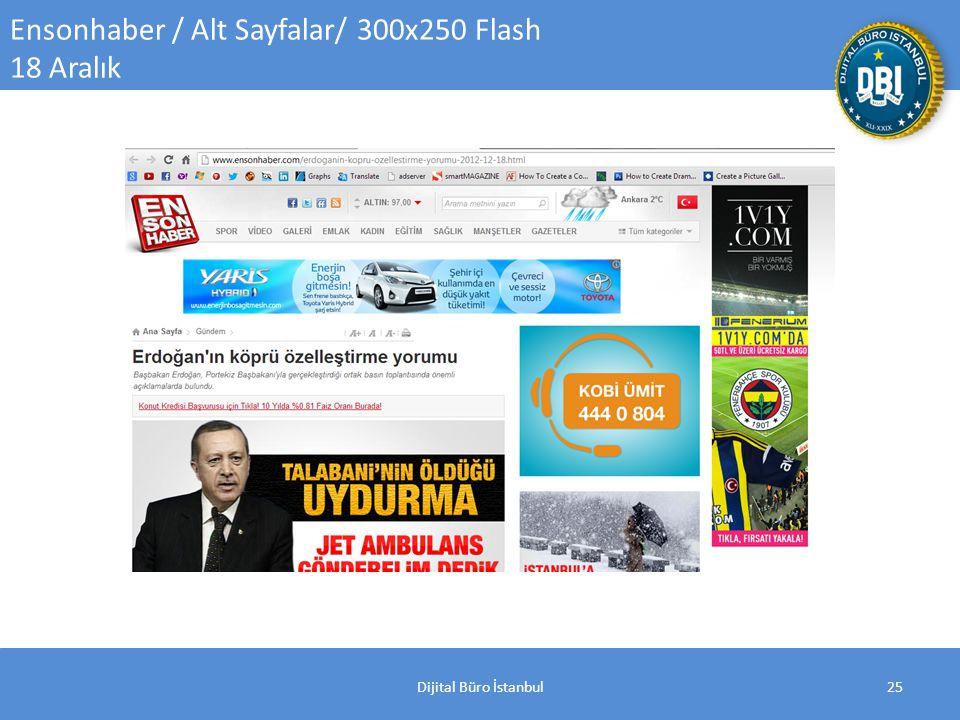 Dijital Büro İstanbul25 Ensonhaber / Alt Sayfalar/ 300x250 Flash 18 Aralık