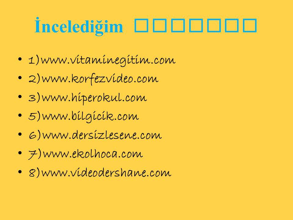 9)www.etkinders.com 10)www.dersimiz.com 11)www.egitimhaane.blogcu.com 12)www.sbsvideo.com 13)www.turkceciler.com 14)www.egitimhane.com 15)www.derszamani.net