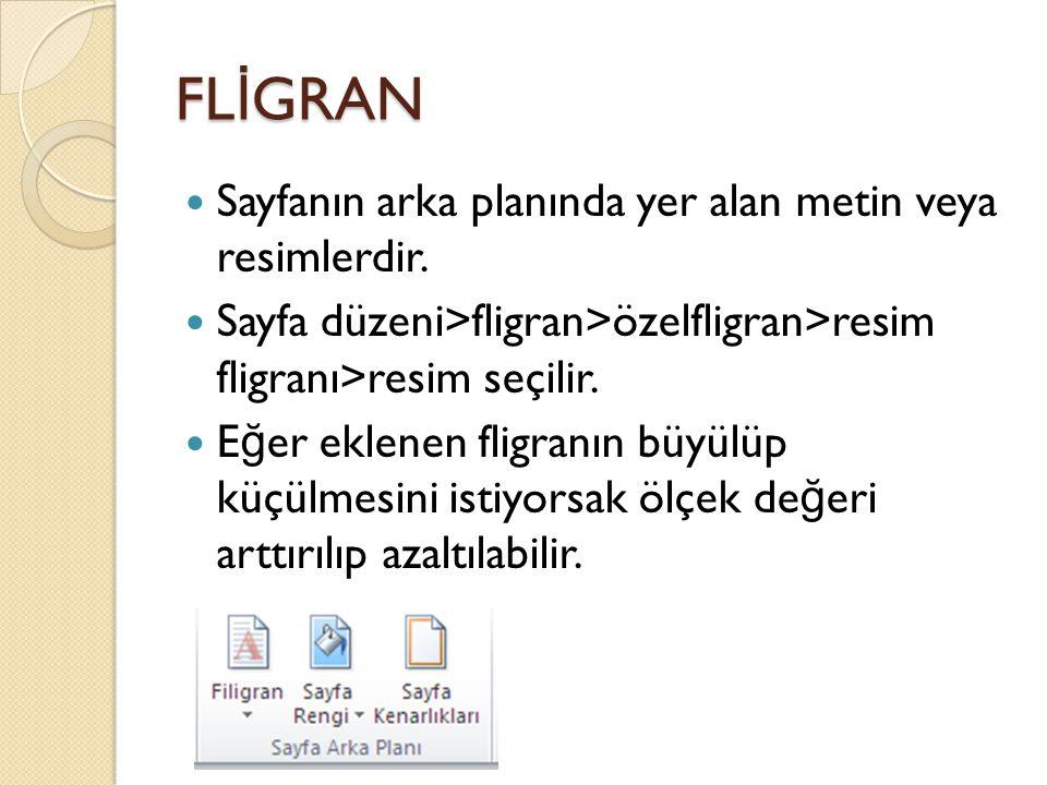 FL İ GRAN Sayfanın arka planında yer alan metin veya resimlerdir.