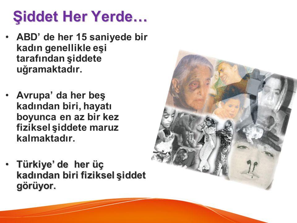 Aile içinde şiddet sadece kadınlara yöneliktir. GERÇEK: Dünya da ve Türkiye de yapılan araştırmalar aile içi şiddete maruz kalanların çok büyük bir bölümünün kadınlar olduğunu ortaya koymakla birlikte erkeklerin de aile içinde fiziksel ve sözlü şiddete uğradığı görülmektedir.