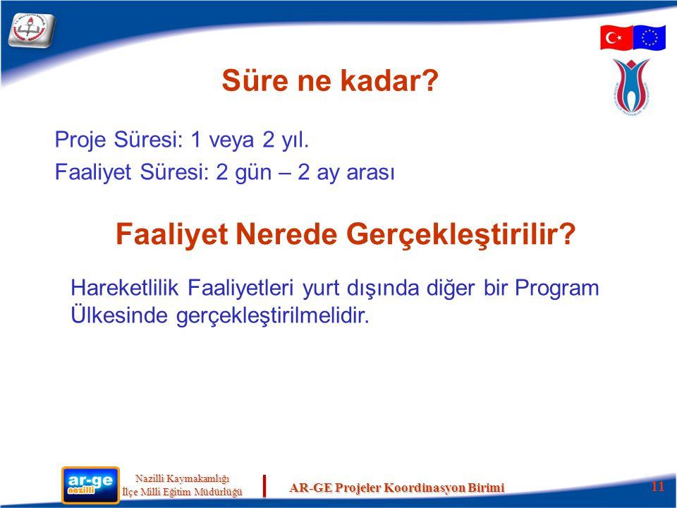 Nazilli Kaymakamlığı Nazilli Kaymakamlığı İlçe Milli Eğitim Müdürlüğü İlçe Milli Eğitim Müdürlüğü AR-GE Projeler Koordinasyon Birimi Süre ne kadar.