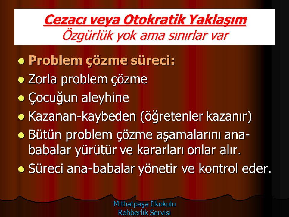 Problem çözme süreci: Problem çözme süreci: Zorla problem çözme Zorla problem çözme Çocuğun aleyhine Çocuğun aleyhine Kazanan-kaybeden (öğretenler kaz