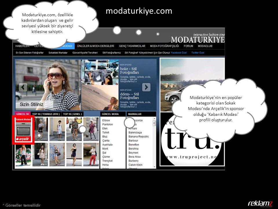 * Görseller temsilidir modaturkiye.com Modaturkiye'nin en popüler kategorisi olan Sokak Modası'nda Arçelik'in sponsor olduğu 'Kabarık Modası' profili oluşturulur.