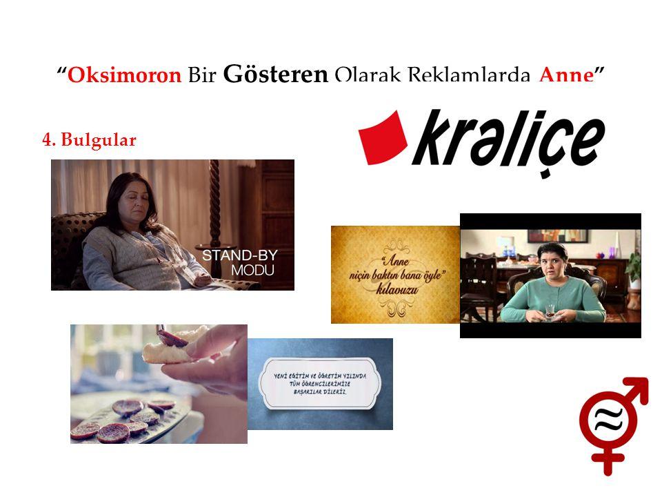 """""""Oksimoron Bir Gösteren Olarak Reklamlarda Anne"""" 4. Bulgular"""