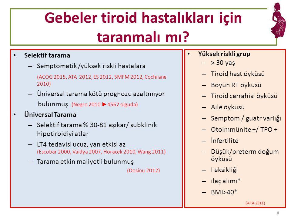 Gebeler tiroid hastalıkları için taranmalı mı.