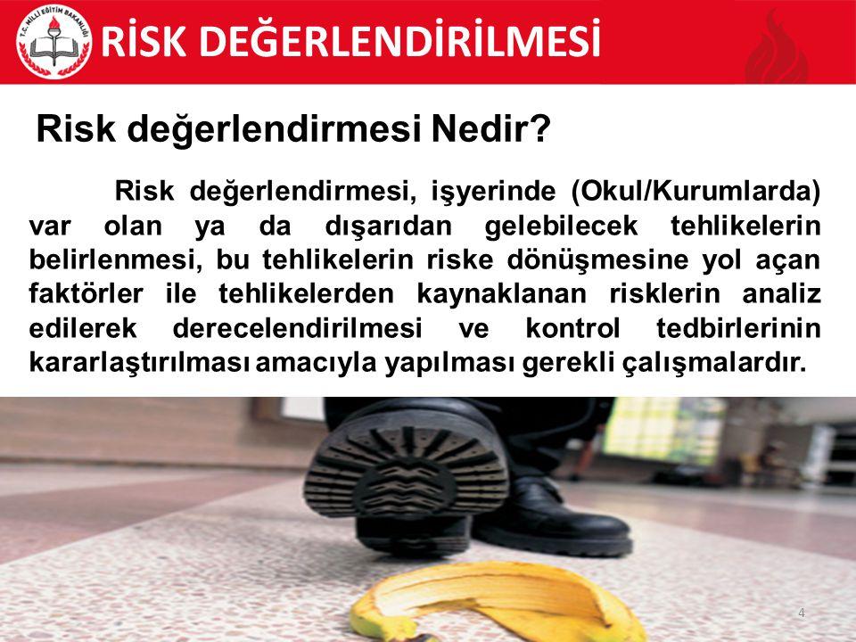 5 Risk değerlendirmesinin 01.01.2013 tarihinden itibaren bütün okullarda yapılması gerekiyor.