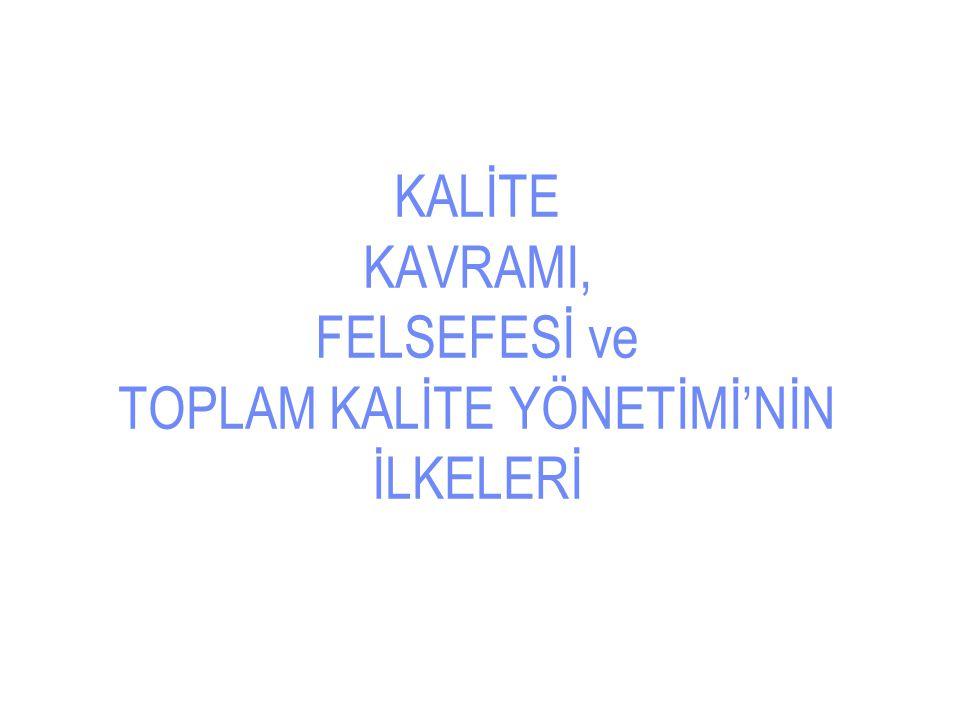 Kalite Kavramı : Latince Qualis , gerçekte öyle olmak  Kalite, rekabet unsurudur.