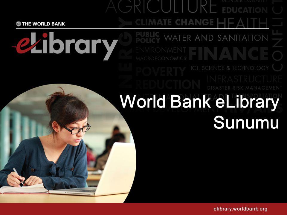 elibrary.worldbank.org WORLD BANK GRUP HAKKINDA 2 Uluslararası Organizasyon Geniş kapsamlı Bilgi Bankası Gelişmekte olan ülkeler için dünyanın en geniş fon ve teknik destek kaynağıdır.