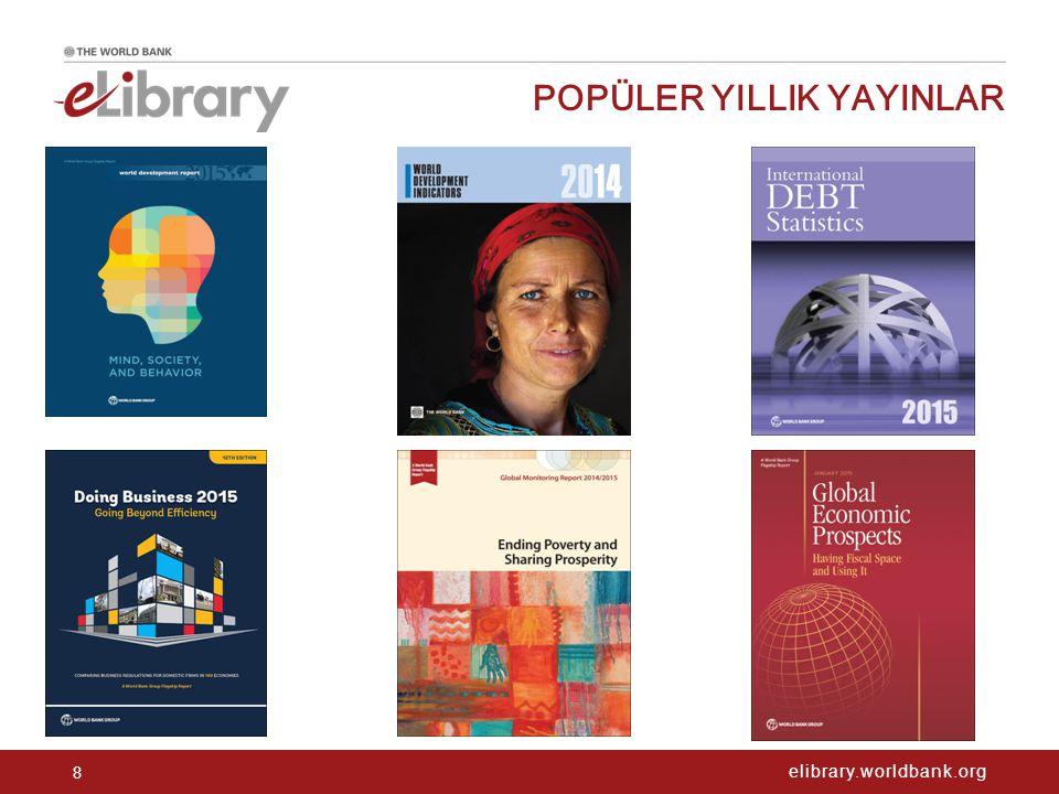 elibrary.worldbank.org POPÜLER YILLIK YAYINLAR 8