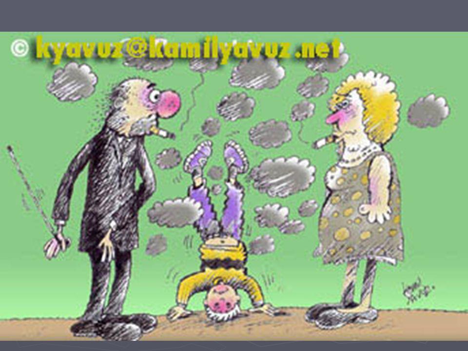 Çevresel tütün dumanı iki ana bileşenden oluşur.1.