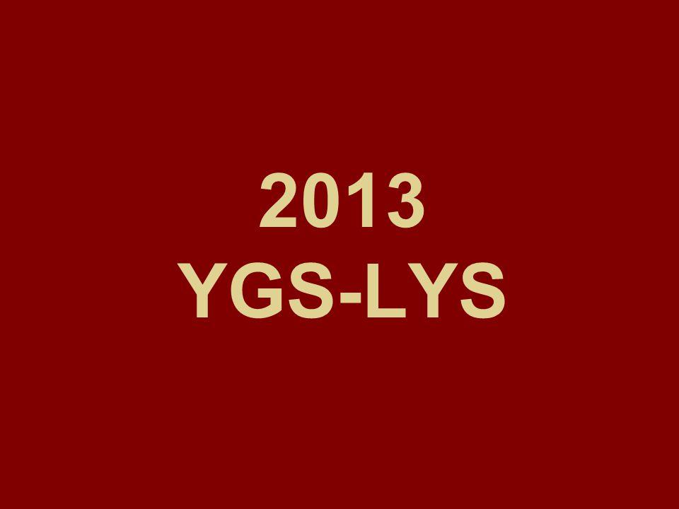 2013 YGS-LYS