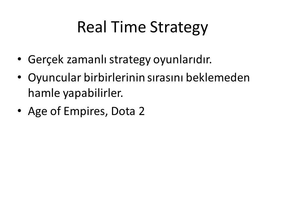 Real Time Strategy Gerçek zamanlı strategy oyunlarıdır.