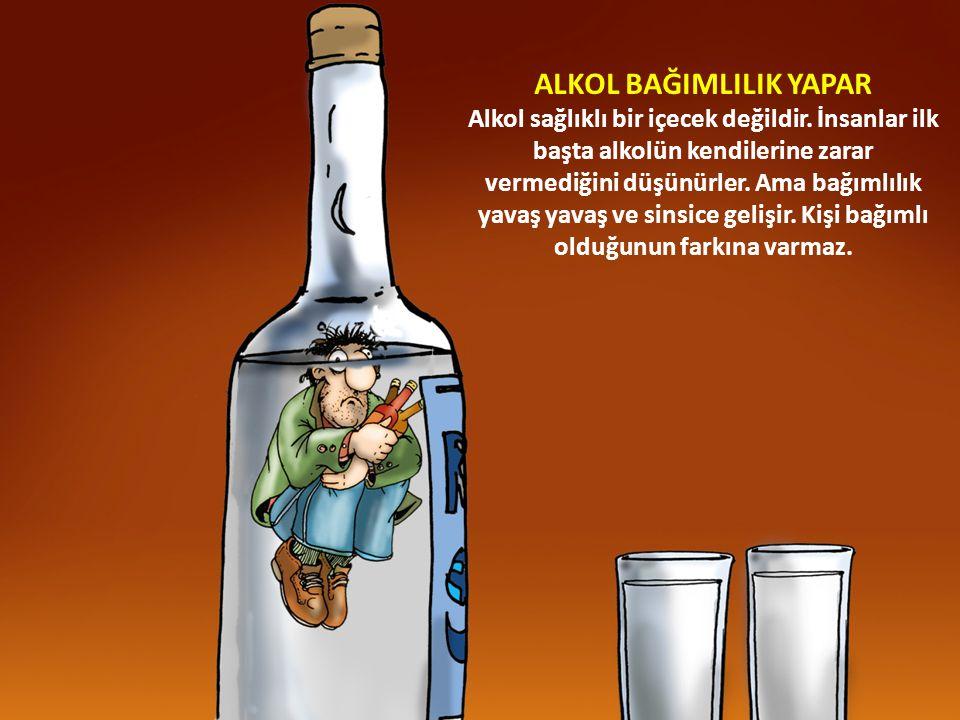 16 ALKOL BAĞIMLILIK YAPAR Alkol sağlıklı bir içecek değildir.