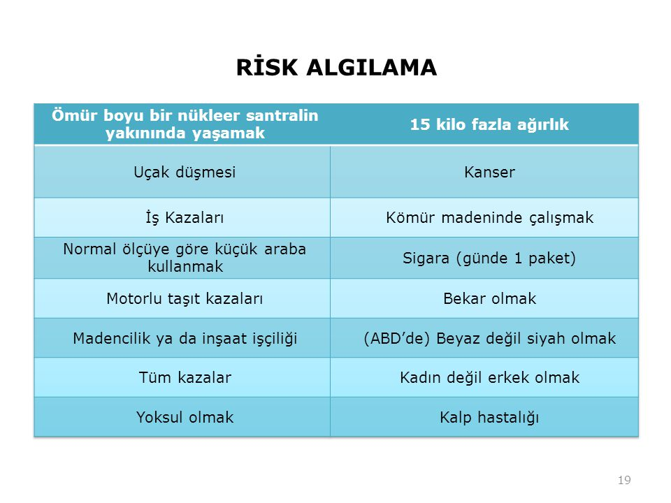 RİSK ALGILAMA 19