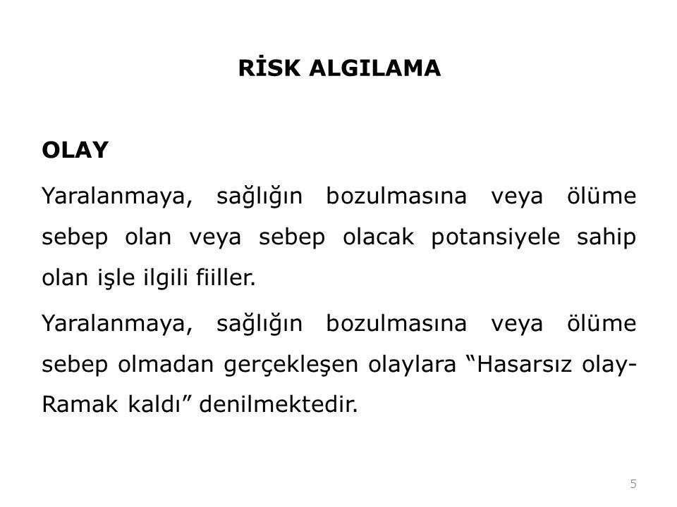 RİSK ANALİZİ VE DEĞERLENDİRMESİ 3.