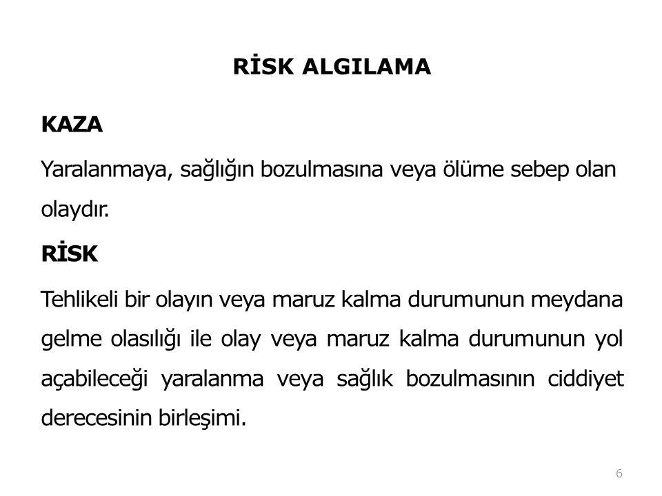 TEHLİKE ve RİSK RİSK DEĞERLENDİRME VE KONTROL FORMU SıraFaaliyet/Tehlike Risk Skoru Kontrol ÖnlemiTaml.
