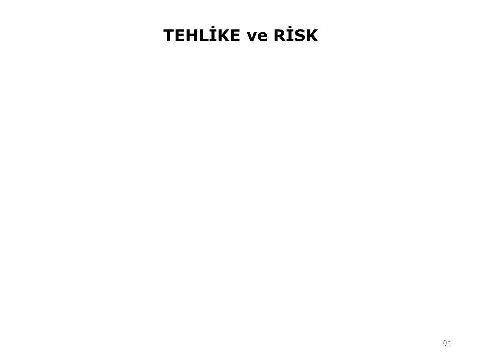 TEHLİKE ve RİSK 91