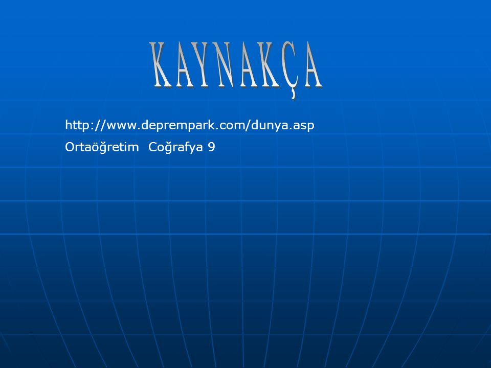 http://www.deprempark.com/dunya.asp Ortaöğretim Coğrafya 9