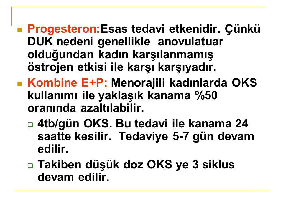 Progesteron:Esas tedavi etkenidir.