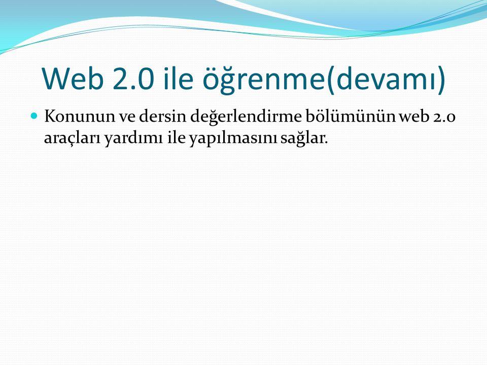 web 2.0 uygulamaları Blog You tube Wiki pedia Widget Facebook