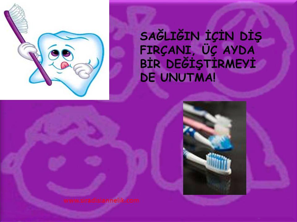 SAĞLIĞIN İÇİN DİŞ FIRÇANI, ÜÇ AYDA BİR DEĞİŞTİRMEYİ DE UNUTMA! www.siradisiannelik.com