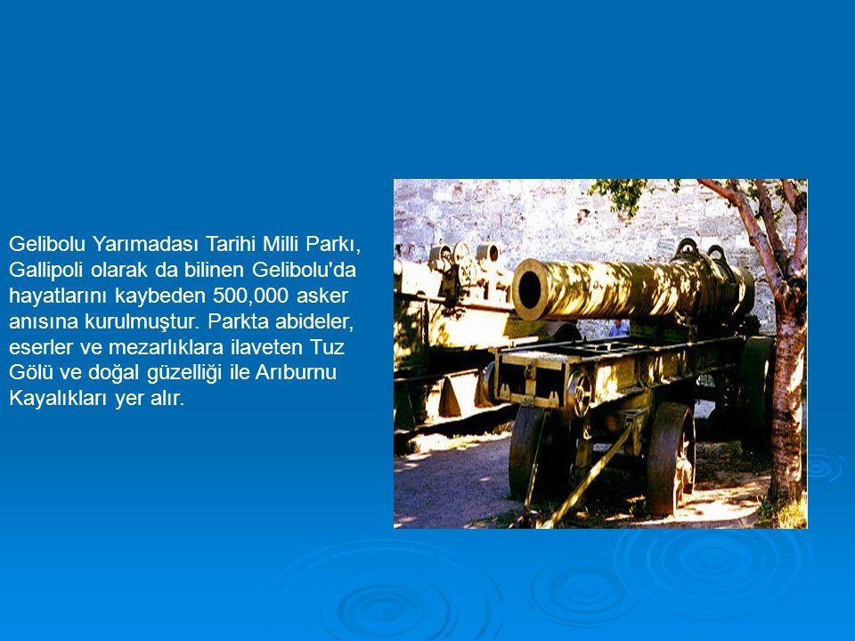 Gelibolu Yarımadası Tarihi Milli Parkı, Gallipoli olarak da bilinen Gelibolu'da hayatlarını kaybeden 500,000 asker anısına kurulmuştur. Parkta abidele