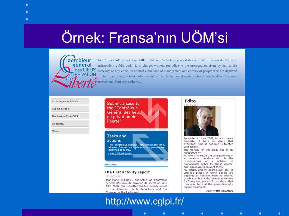 Örnek: Fransa'nın UÖM'si http://www.cglpl.fr/