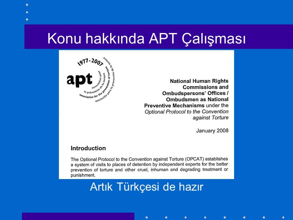 Konu hakkında APT Çalışması Artık Türkçesi de hazır