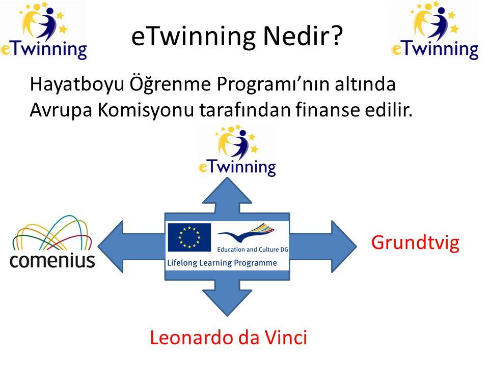 eTwinning Nedir? Hayatboyu Öğrenme Programı'nın altında Avrupa Komisyonu tarafından finanse edilir. Grundtvig Leonardo da Vinci