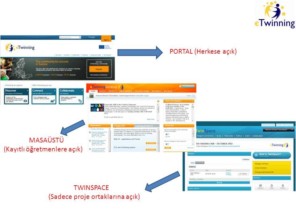 PORTAL (Herkese açık) http://www.etwinning.net/ Dili Türkçe yapabiliriz.