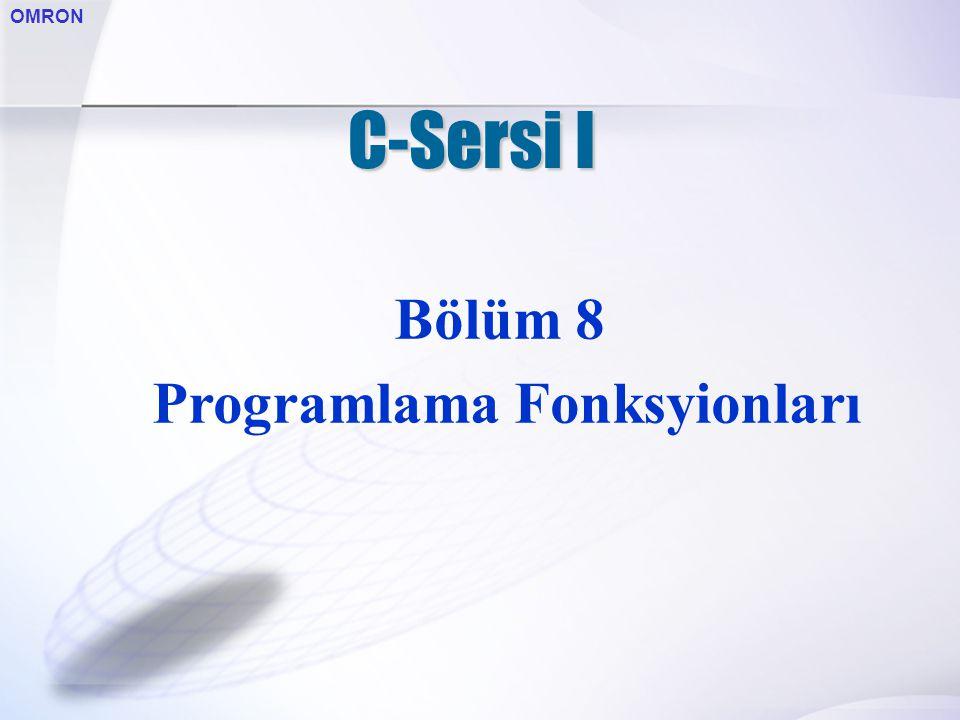 OMRON C-Sersi I Bölüm 8 Programlama Fonksyionları