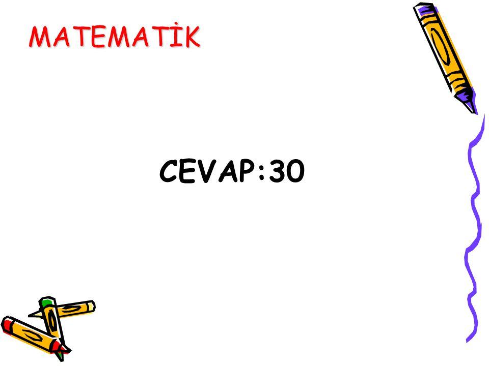 CEVAP:30 MATEMATİK