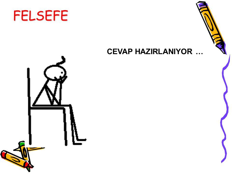 CEVAP HAZIRLANIYOR … FELSEFE