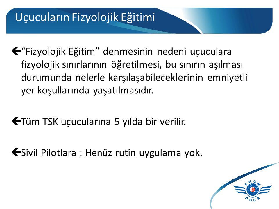Uçuş Fizyolojisi Konuları 1. İrtifanın Neden Olduğu Problemler: A. Oksijen Azalması (Hipoksi ve Hiperventilasyon) B. Basınç Azalması (Barotravma ve De