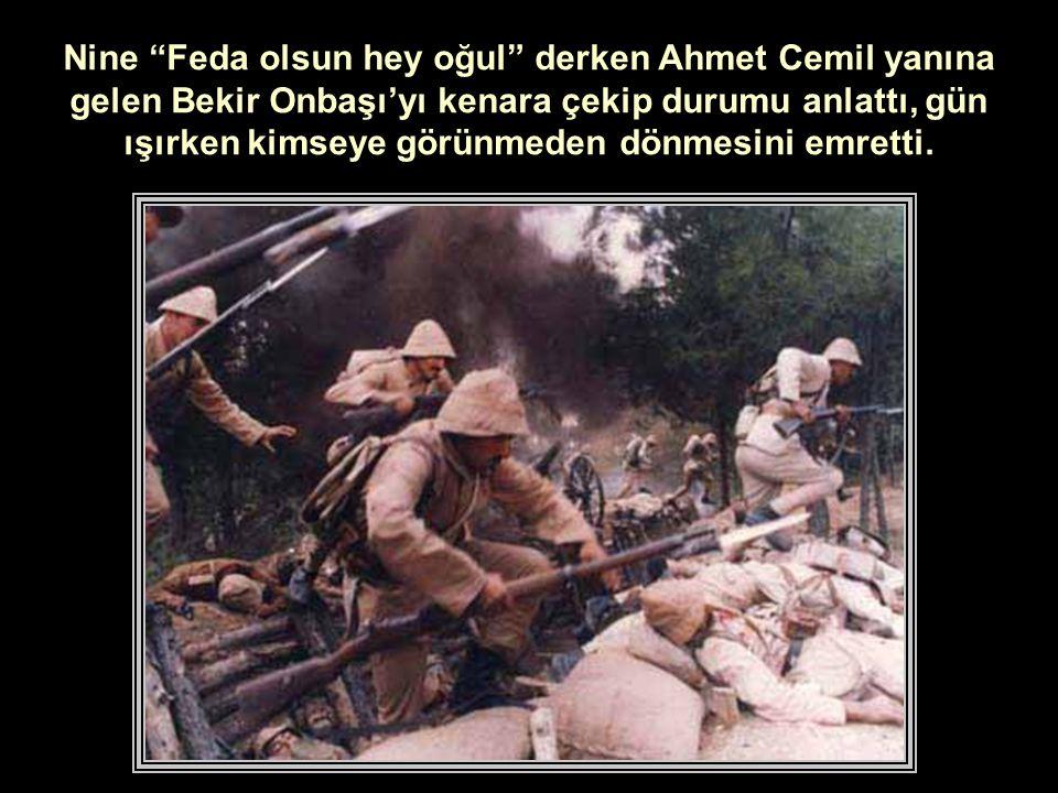 Ahmet Cemil gözyaşlarını tutmaya çalışarak Havayı görüyorsun nine dedi: Gök delindi, yer batak.