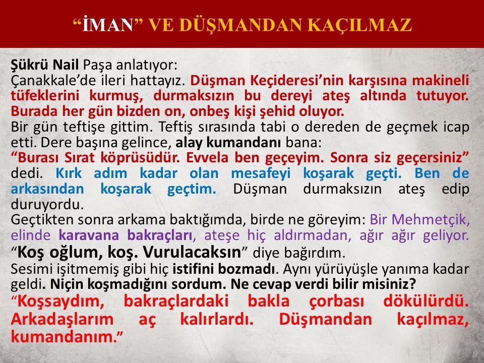 Şükrü Nail Paşa anlatıyor: Çanakkale'de ileri hattayız.