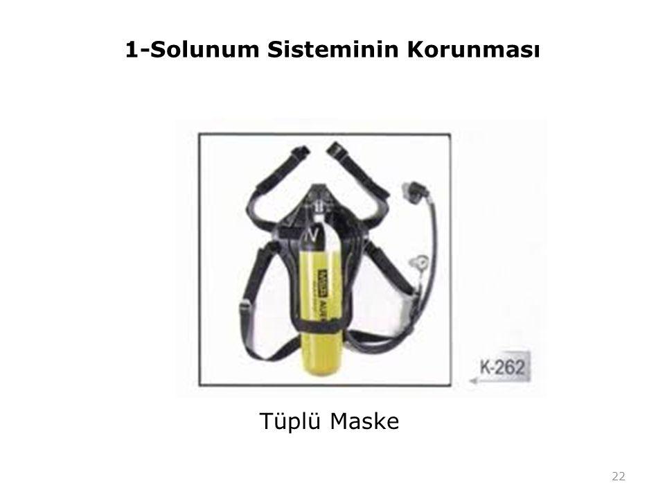 1-Solunum Sisteminin Korunması Tüplü Maske 22