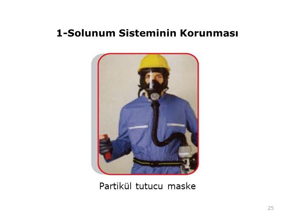 1-Solunum Sisteminin Korunması Partikül tutucu maske 25