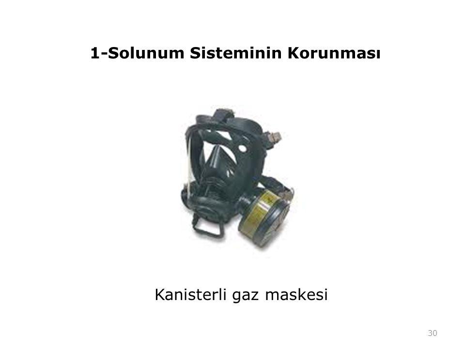 1-Solunum Sisteminin Korunması Kanisterli gaz maskesi 30