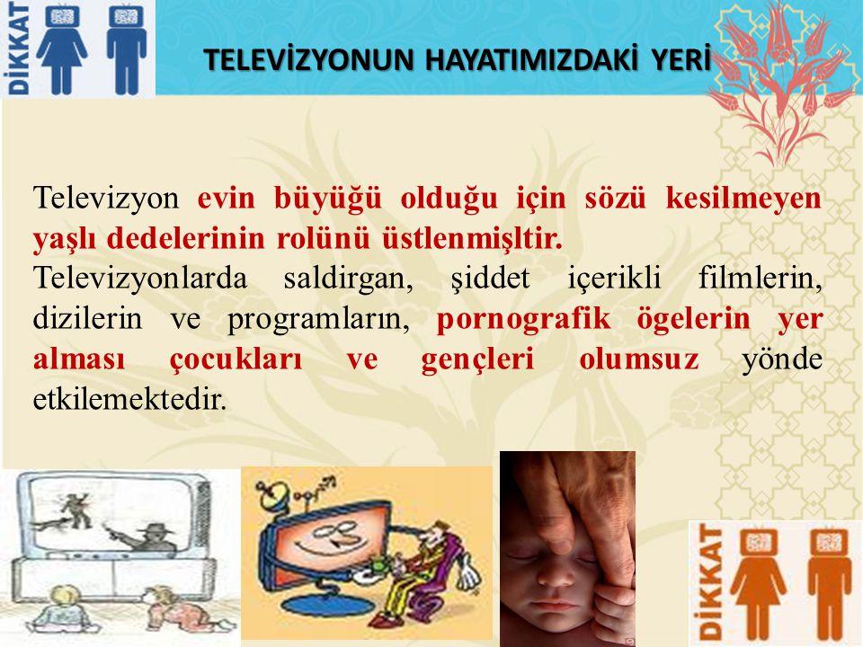 TELEVİZYONUN HAYATIMIZDAKİ YERİ Televizyon evin büyüğü olduğu için sözü kesilmeyen yaşlı dedelerinin rolünü üstlenmişltir.