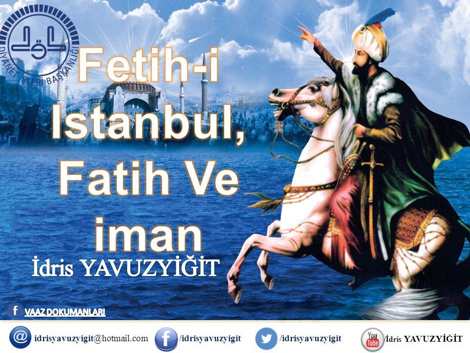 FATİH'İN YÜREKLERİ FETHİ VE SONUÇLARI Fatih fetih sonrası yürek fethine girişmiş ve bunun için hoşgörünün en güzel örnekleri İstanbul'da sergilenmiş, Ortodoks, Katolik ve Protestan din âlimlerini davet ederek onlarla ilmi toplantılar yaparak tevhid inancını yayma gayretinde olmuştur.