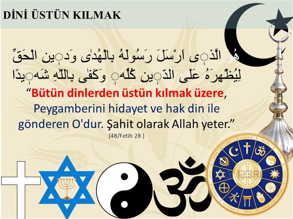 FETİH VE ZAFER Amaç Dini Mübin i İslam a Hizmet Etmektir İmtisal-i cahidü fillah olupdur niyyetüm ( Niyetim; Allah yolunda cihad ediniz! emrine riayet etmektir.) Dîn-i İslam'ın mücerred gayretüdür gayretüm.