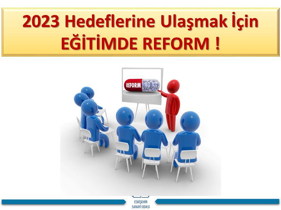 2023 Hedeflerine Ulaşmak İçin EĞİTİMDE REFORM !
