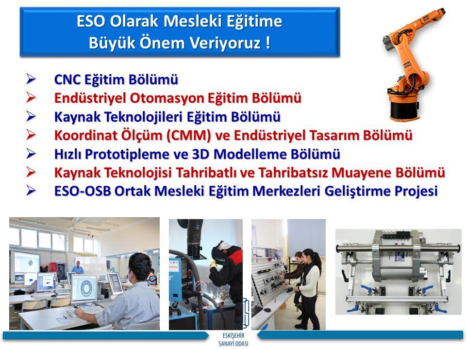  CNC Eğitim Bölümü  Endüstriyel Otomasyon Eğitim Bölümü  Kaynak Teknolojileri Eğitim Bölümü  Koordinat Ölçüm (CMM) ve Endüstriyel Tasarım Bölümü 