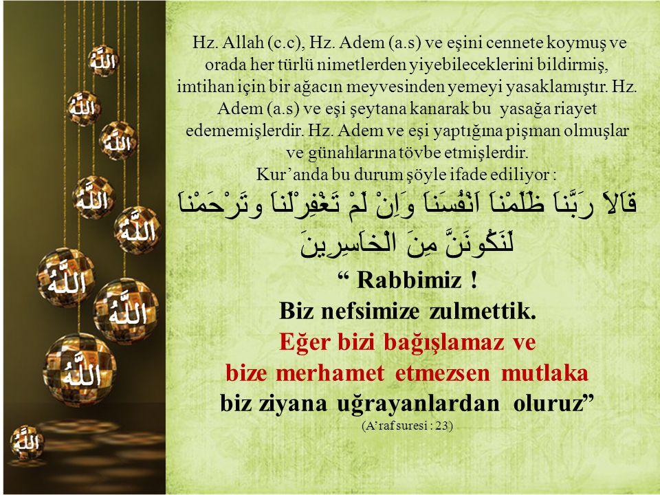 Hz.Allah (c.c), Hz.
