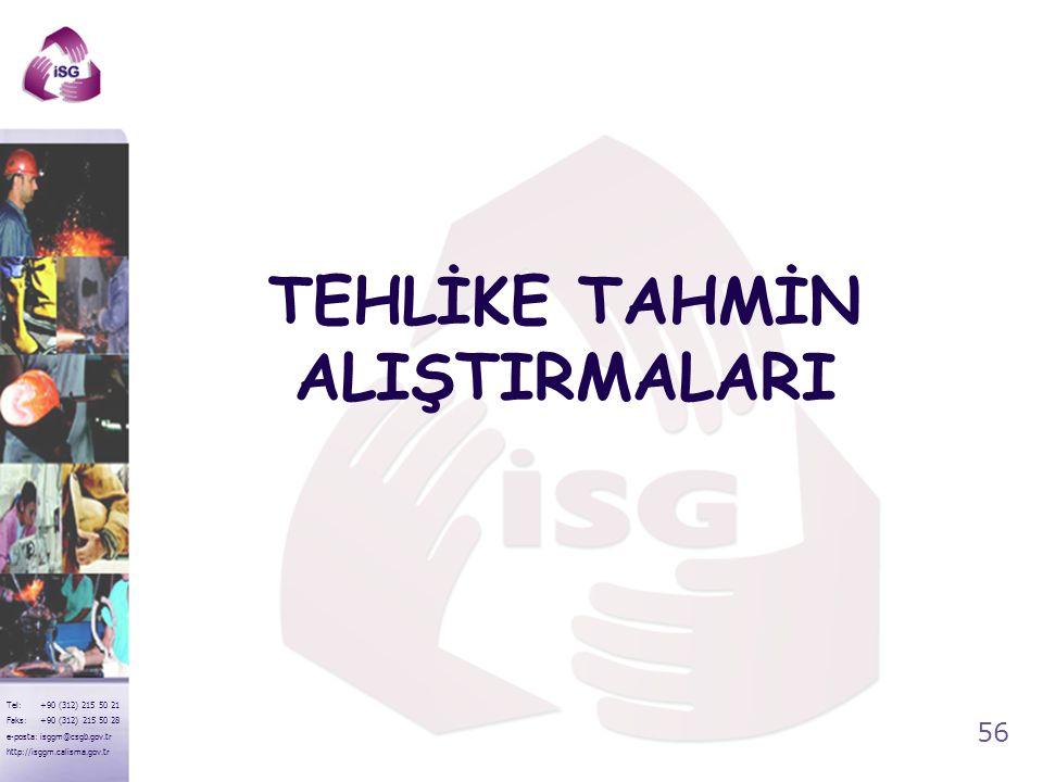 55 Tel: +90 (312) 215 50 21 Faks: +90 (312) 215 50 28 e-posta: isggm@csgb.gov.tr http://isggm.calisma.gov.tr AnlamıTarifiŞekil TEHLİKE Acil dur. Avuç