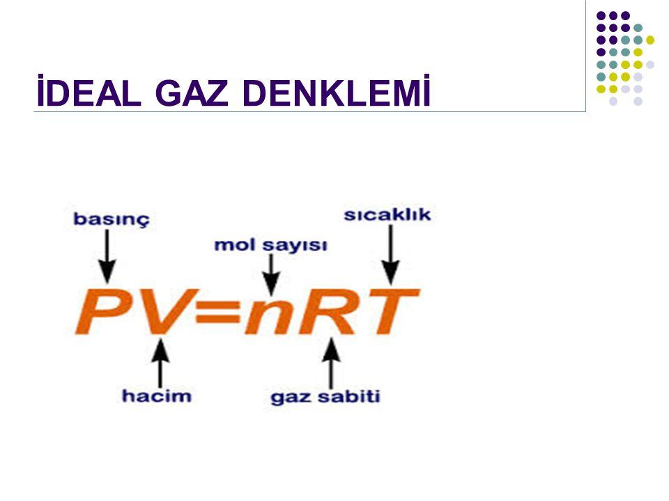 İDEAL GAZ DENKLEMİ
