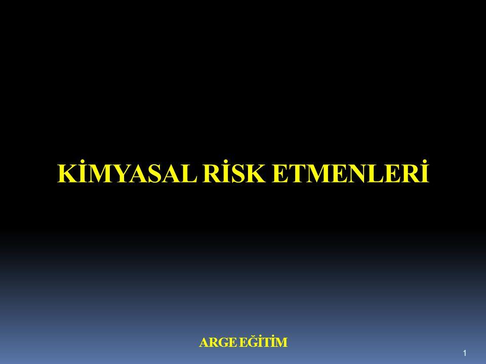 Eşik Sınır Değer ( ESD ; TLV; Treshold Limit Value ) İkinci kavram ise eşik sınır değer (ESD) kavramıdır.