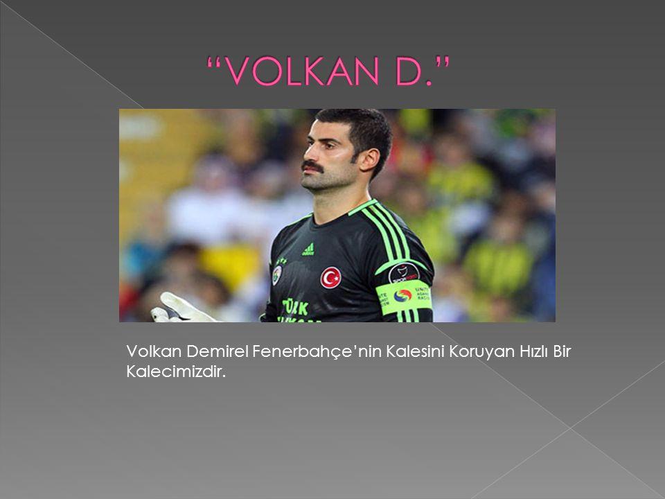 Volkan Demirel Fenerbahçe'nin Kalesini Koruyan Hızlı Bir Kalecimizdir.